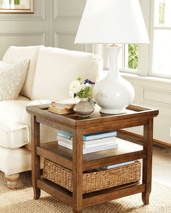 Where to place end tables in living room